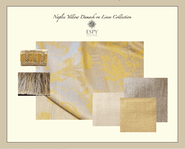 Naples Yellow Damask on Linen Collection