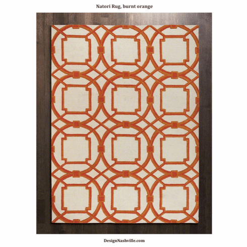 Natori Rug, burnt orange