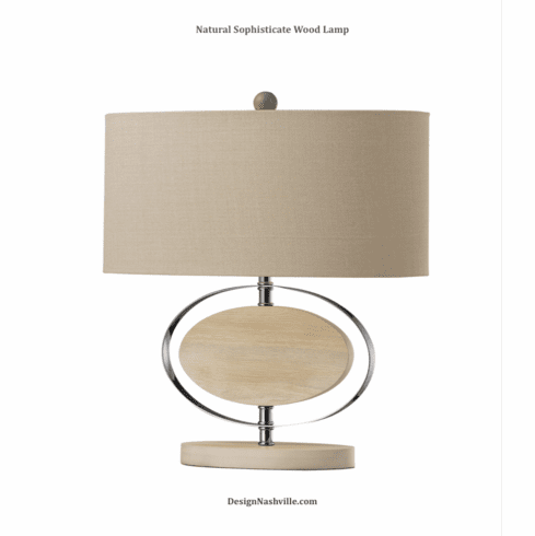Natural Sophisticate Wood Lamp