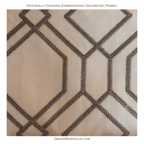 Naturally Dashing Embroidered <br>Geometric Fabric