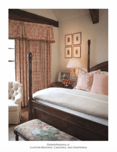 Neutral Bedding and Print Draperies