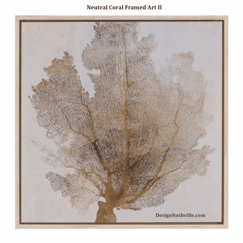 Neutral Coral Framed Art II