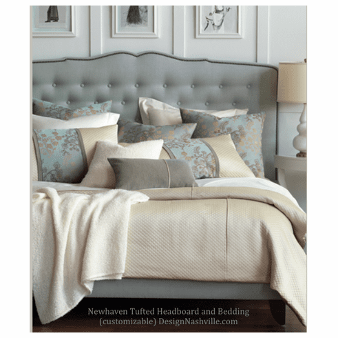 New Haven Tufted Headboard or Bed