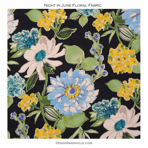 Night in June Floral Print Fabric
