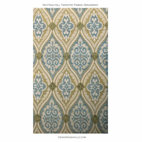 Notting Hill Tapestry Fabric Spearmint