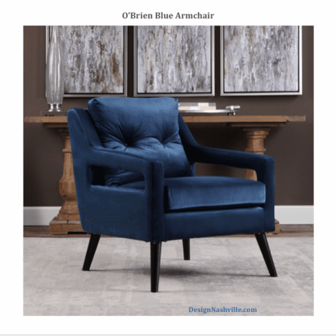 O'Brien Blue Armchair