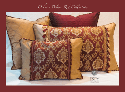 Ochsner Palace Royal Red Damask Bedding and Drapery Collection