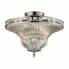 Odeon Crystal Flush Mount Light