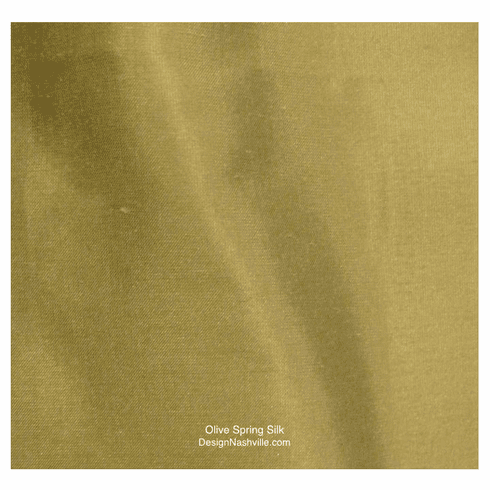 Olive Spring Silk Fabric