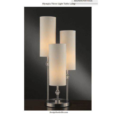Olympia Three Light Table Lamp