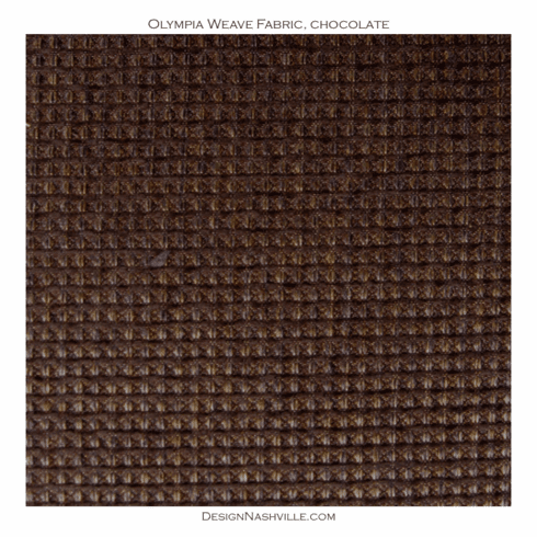 Olympia Weave Fabric, chocolate
