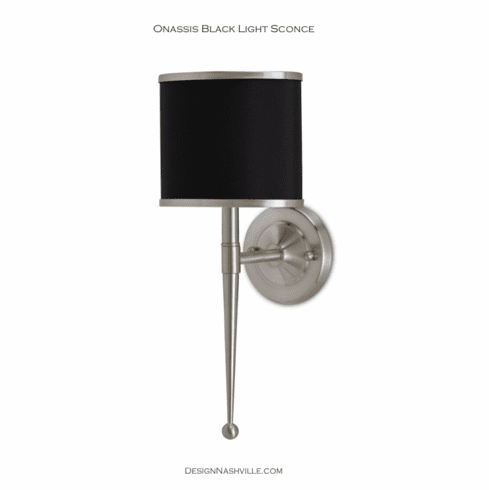 Onassis Black Light Sconce, nickel