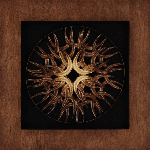 Organic Golden Sunburst Plaque