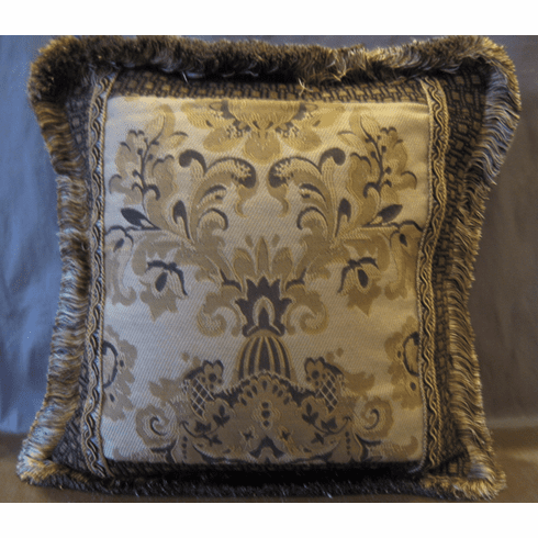 Othello's Damask with Fringe Pillow