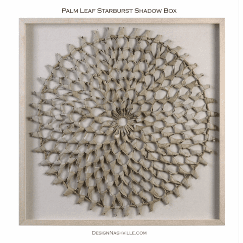 Palm Leaf Starburst Shadow Box