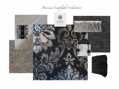 Parisian Lamplight Bedding and Drapery Collection
