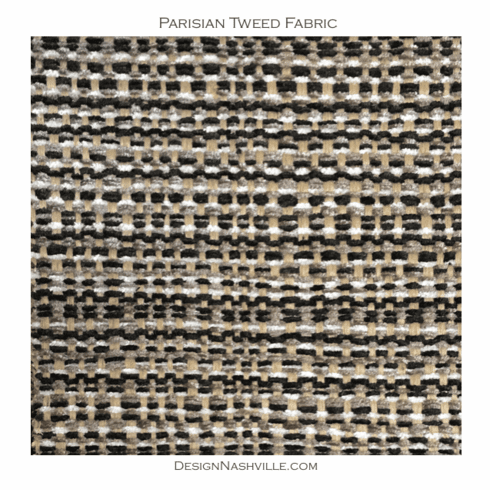 Parisian Tweed Fabric, black ivory