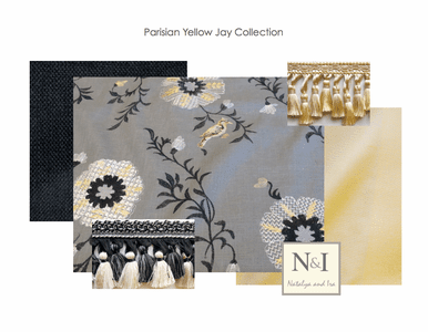 Parisian Yellow Jay Drapery and Bedding Collection