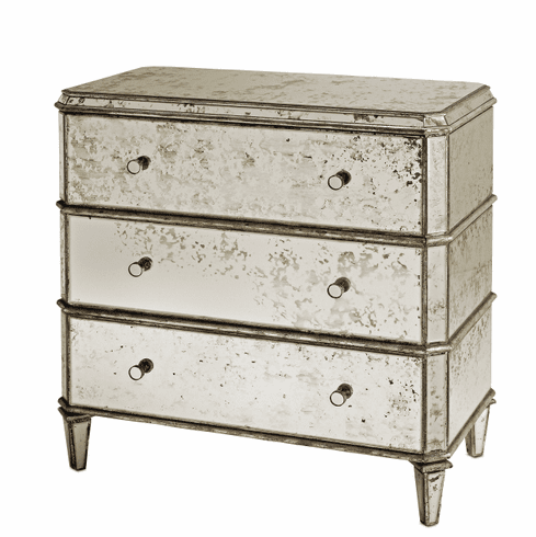 Park Avenue Antiqued Mirror Chest of Drawers