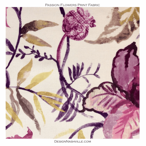 Passion Flowers Print Fabric
