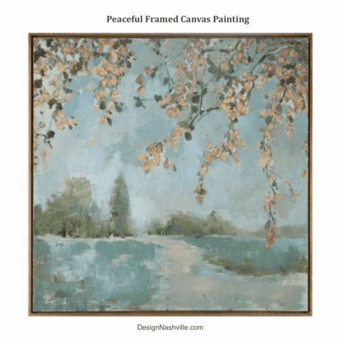 Peaceful Framed Canvas Painting