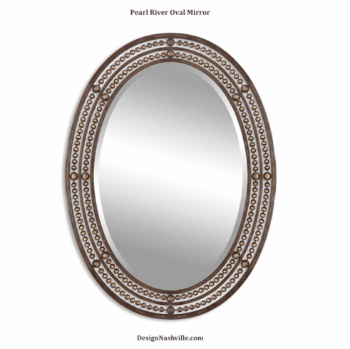Pearl River Oval Mirror