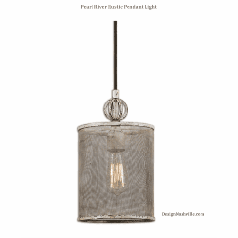Pearl River Rustic Pendant Light