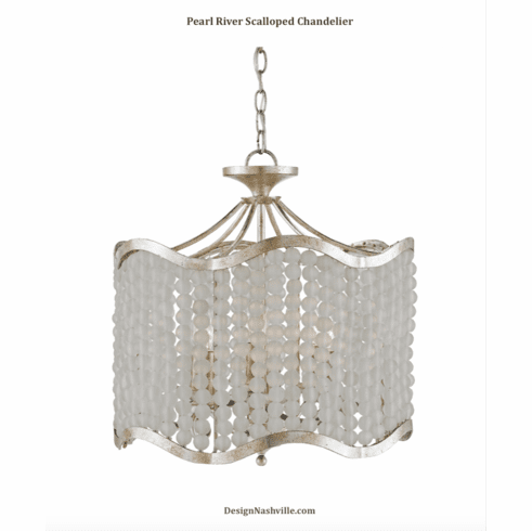 Pearl River Scalloped Chandelier