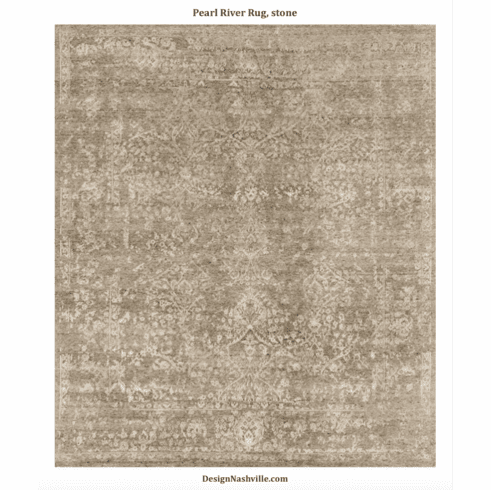 Pearl River Transitional Rug, stone
