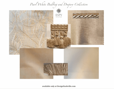 Pearl White Bedding and Drapery Collection