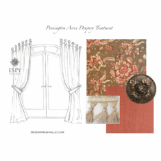 Pennington Acres Drapery Treatment with Medallions