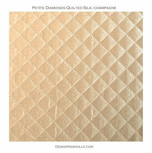 Petite Diamonds Quilted Silk, champagne