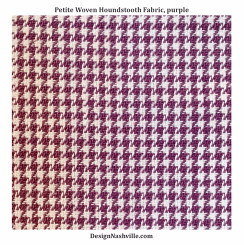 Petite Woven Houndstooth Fabric,<br> purple