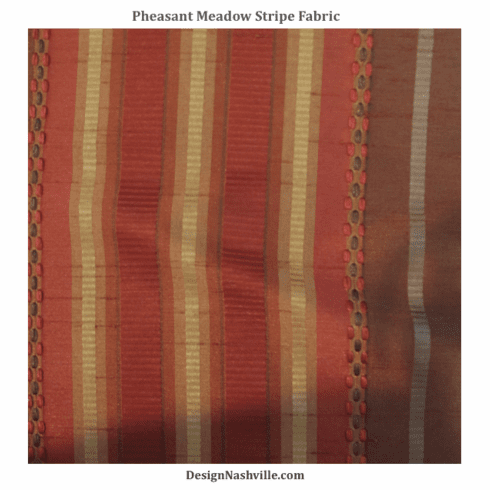 Pheasant Meadows Stripe Fabric