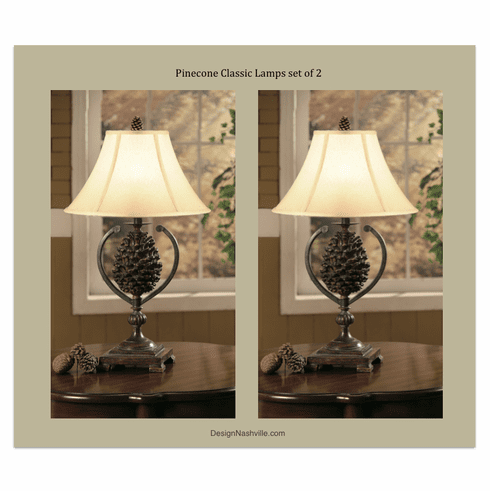 Pinecone Classic Lamps set of 2