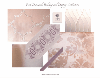 Pink Diamonds Bedding and Drapery Collection