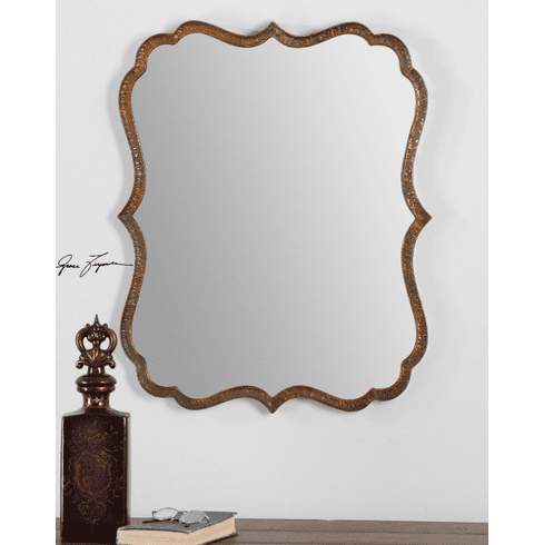 Plantation Scalloped Mirror 30""