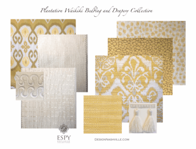 Plantation Waikiki Bedding and Drapery Collection