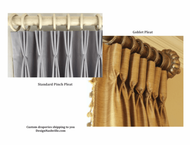 Pleat Styles Pinch Pleat and Goblet Pleat