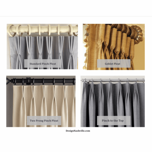 Pleat Types for Traditional Drapery Panels