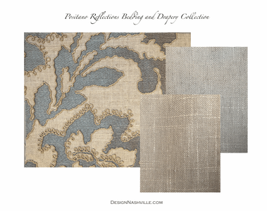 Positano Reflections Bedding and Drapery Collection