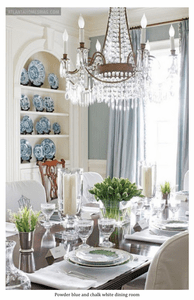 Powder Blue and Chalk White Dining Room