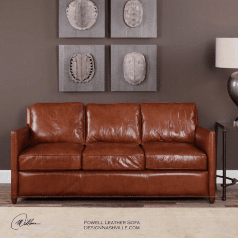 Powell Leather Sofa