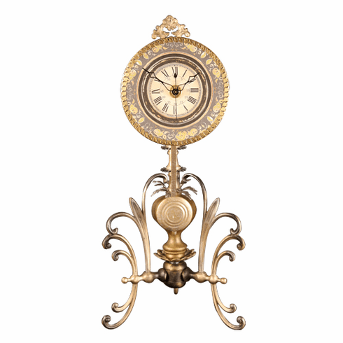 Priscilla Artisan Table Clock