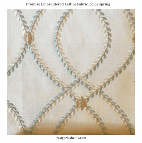 Promise Embroidered Lattice Fabric, <br>color spring