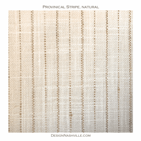 Provincial Stripe Fabric, natural