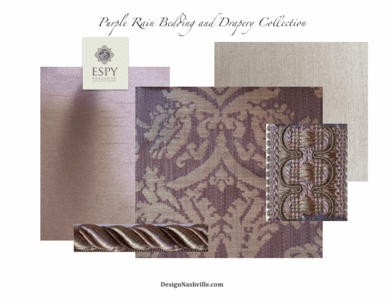 Purple Rain Bedding and Drapery Collection