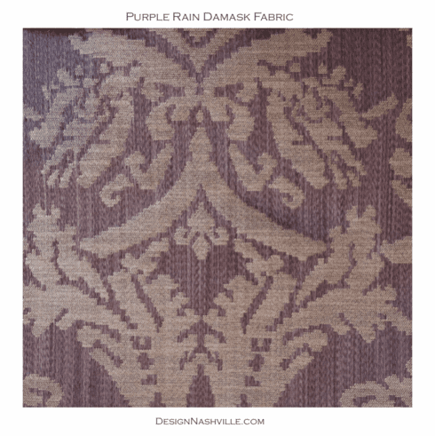 Purple Rain Damask Fabric