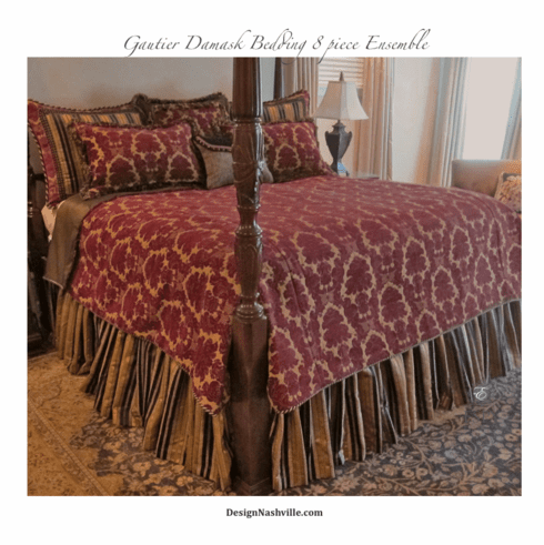 Quick Ship! Gautier Damask Bedding Ensemble