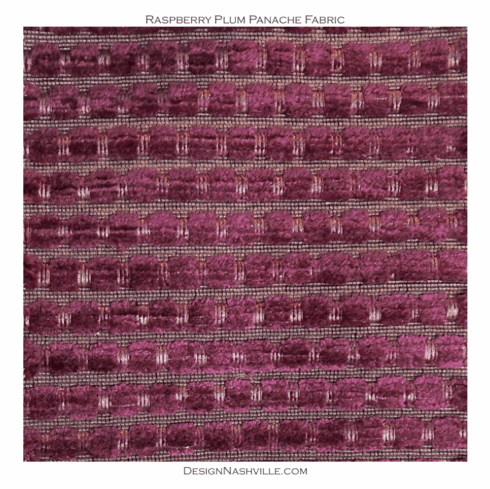 Raspberry Plum Chenille Fabric